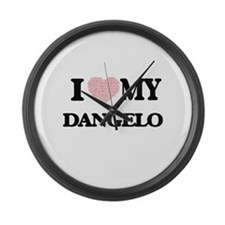 I Love my Dangelo (Heart Made fro Large Wall Clock