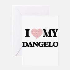 I Love my Dangelo (Heart Made from Greeting Cards
