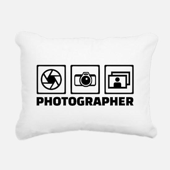 Photographer Rectangular Canvas Pillow