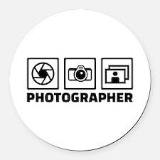Photographer Round Car Magnet