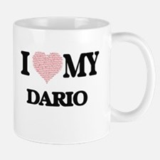 I Love my Dario (Heart Made from Love my word Mugs