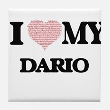 I Love my Dario (Heart Made from Love Tile Coaster