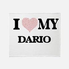 I Love my Dario (Heart Made from Lov Throw Blanket