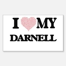 I Love my Darnell (Heart Made from Love my Decal