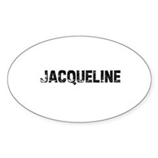 Jacqueline Oval Decal