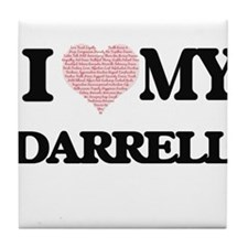 I Love my Darrell (Heart Made from Lo Tile Coaster