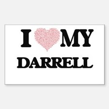 I Love my Darrell (Heart Made from Love my Decal