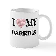 I Love my Darrius (Heart Made from Love my wo Mugs