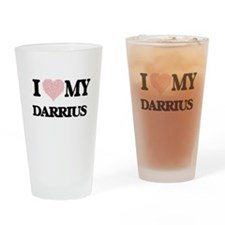 I Love my Darrius (Heart Made from Drinking Glass