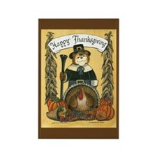 Thanksgiving Pilgrim, Male Rectangle Magnet