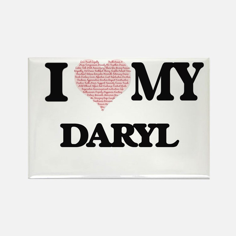 I Love my Daryl (Heart Made from Love my w Magnets