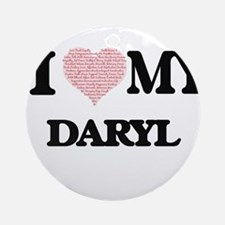 I Love my Daryl (Heart Made from Lo Round Ornament