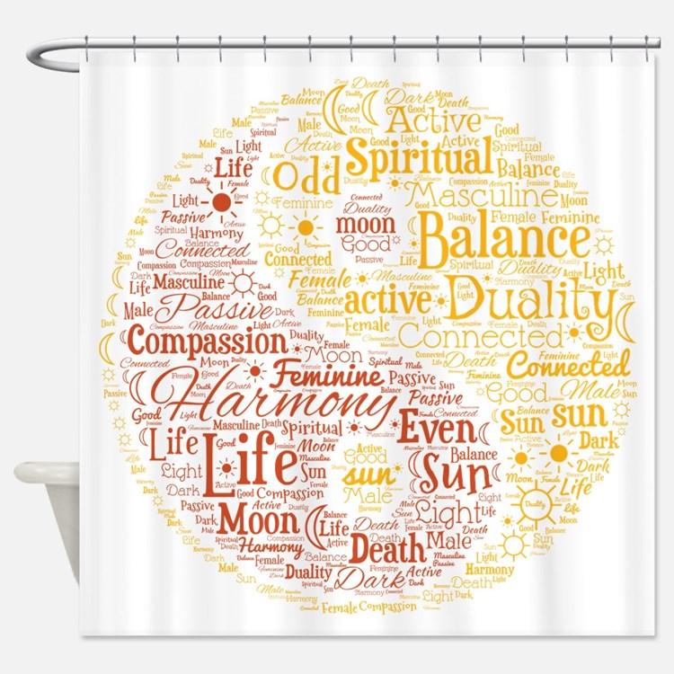 Word Cloud Shower Curtains