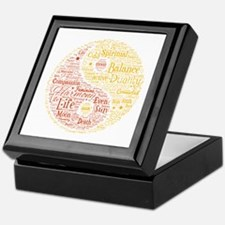 Yin Yang Spiritual Word Art Keepsake Box