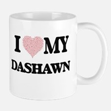 I Love my Dashawn (Heart Made from Love my wo Mugs