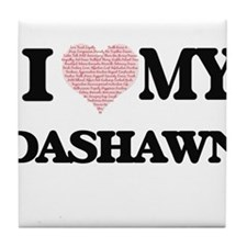 I Love my Dashawn (Heart Made from Lo Tile Coaster