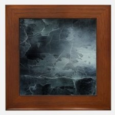 BLACK SPLATTER Framed Tile