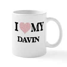 I Love my Davin (Heart Made from Love my word Mugs
