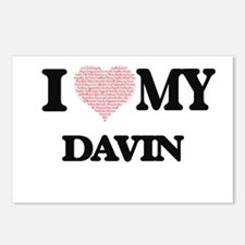 I Love my Davin (Heart Ma Postcards (Package of 8)
