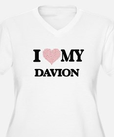 I Love my Davion (Heart Made fro Plus Size T-Shirt