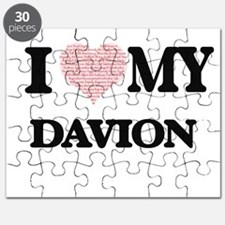 I Love my Davion (Heart Made from Love my w Puzzle