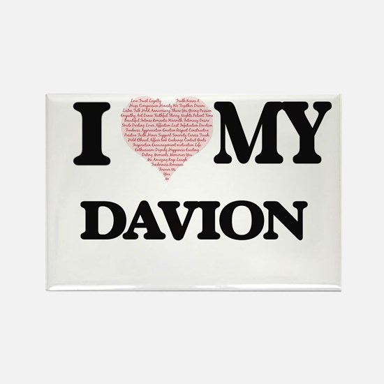 I Love my Davion (Heart Made from Love my Magnets