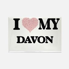 I Love my Davon (Heart Made from Love my w Magnets