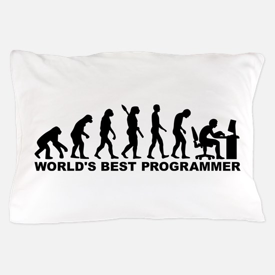Evolution world's best Programmer Pillow Case