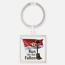 Cute Fallen hero Square Keychain