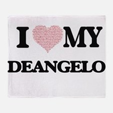I Love my Deangelo (Heart Made from Throw Blanket