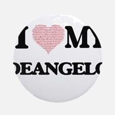 I Love my Deangelo (Heart Made from Round Ornament