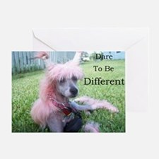 Chinese Crested Different Greeting Card