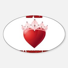 Cute Truckers wives Sticker (Oval)
