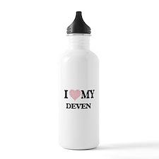 I Love my Deven (Heart Water Bottle