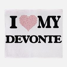I Love my Devonte (Heart Made from L Throw Blanket