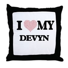 I Love my Devyn (Heart Made from Love Throw Pillow