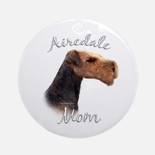 Airedale Mom2 Ornament (Round)