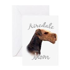 Airedale Mom2 Greeting Card
