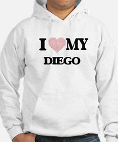I Love my Diego (Heart Made from Hoodie