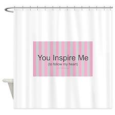 Inspire Follow Heart Shower Curtain