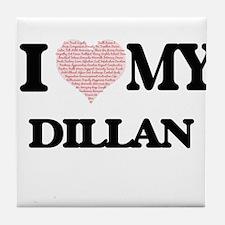 I Love my Dillan (Heart Made from Lov Tile Coaster