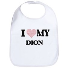 I Love my Dion (Heart Made from Love my words) Bib