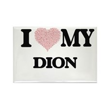 I Love my Dion (Heart Made from Love my wo Magnets