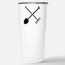 Black shovel rake Stainless Steel Travel Mug