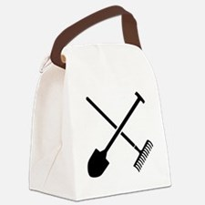 Black shovel rake Canvas Lunch Bag
