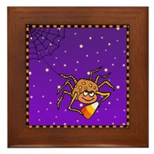 Candy Corn Spider Framed Tile