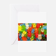 Gummy Bear Candies Greeting Cards