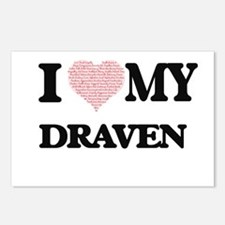 I Love my Draven (Heart M Postcards (Package of 8)