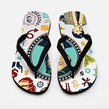 funny donald trump Flip Flops