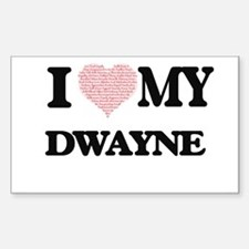 I Love my Dwayne (Heart Made from Love my Decal